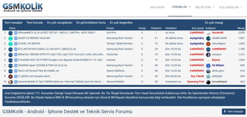 Android Ve İphone Teknik Destek Forumu